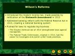 wilson s reforms
