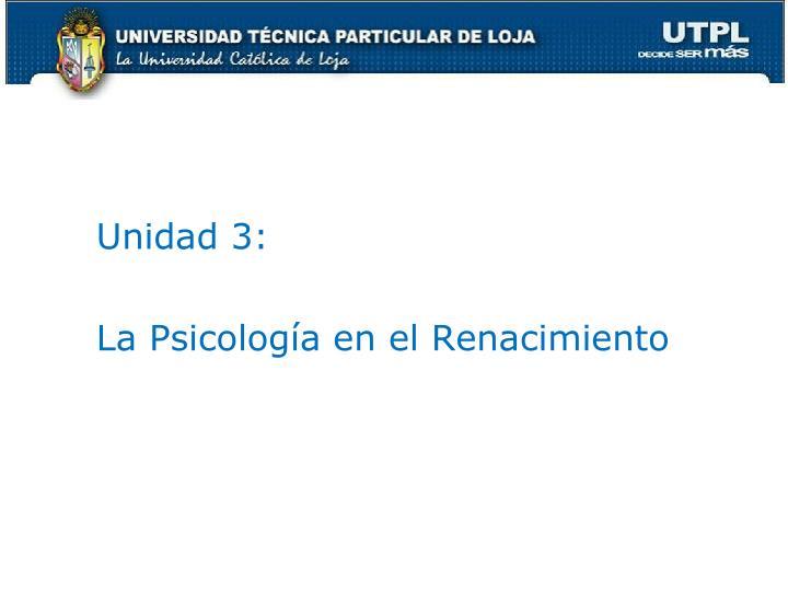 Unidad 3: