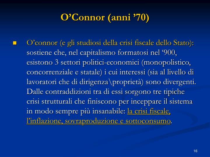 O'Connor (anni '70)