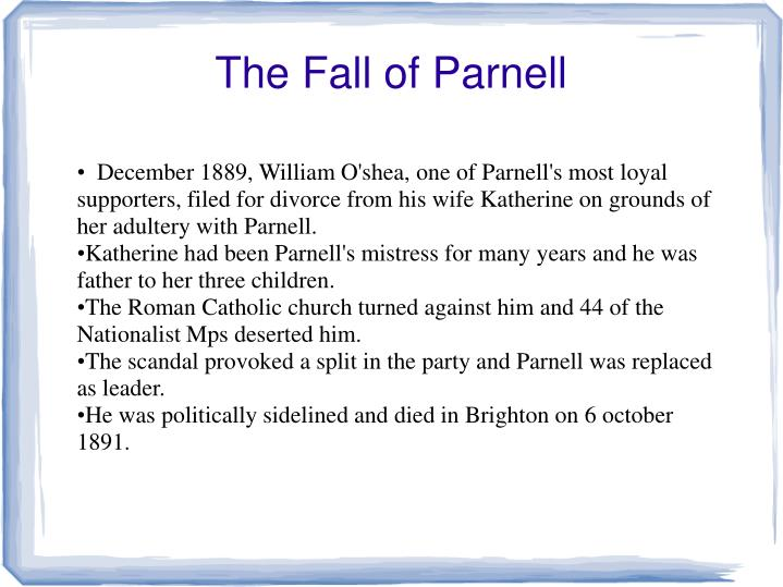 The Fall of Parnell