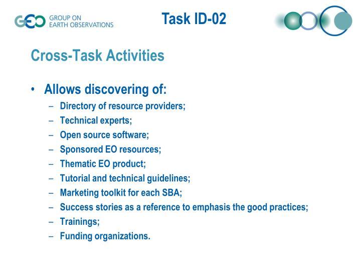 Cross-Task Activities