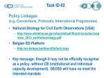 policy linkages e g conventions protocols international programmes