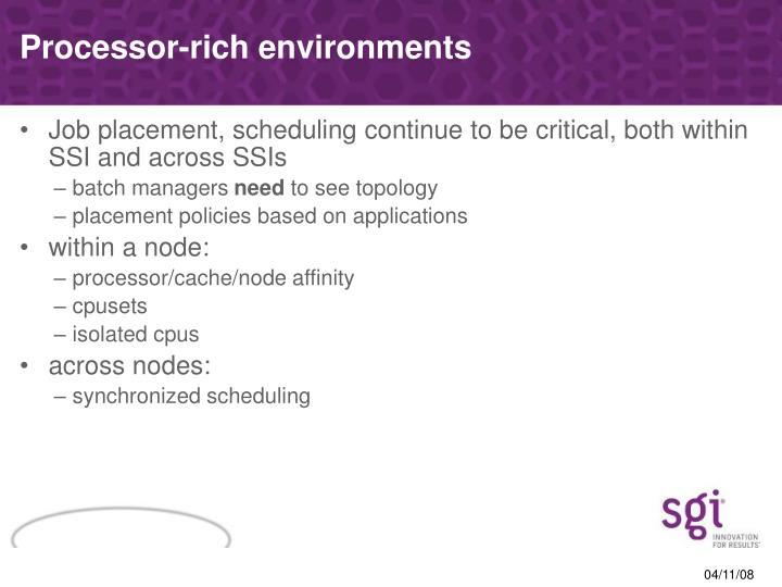 Processor-rich environments