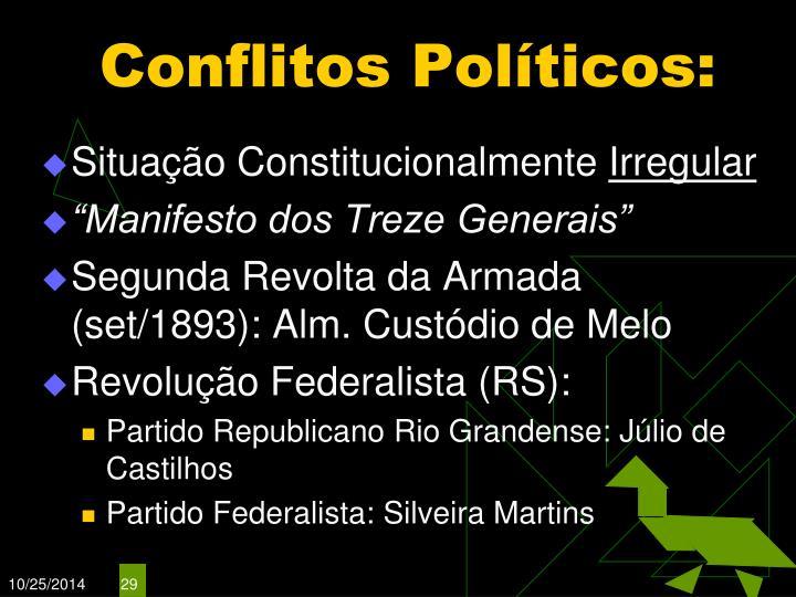 Conflitos Políticos: