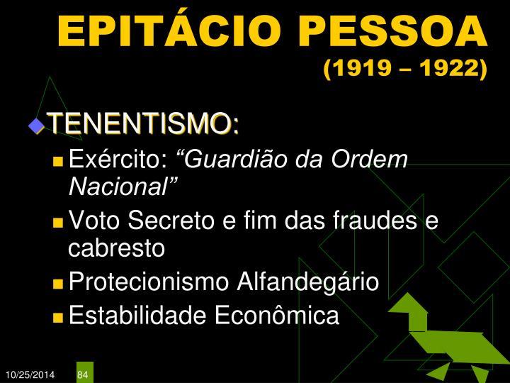 EPITÁCIO PESSOA
