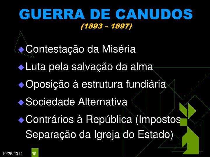 GUERRA DE CANUDOS