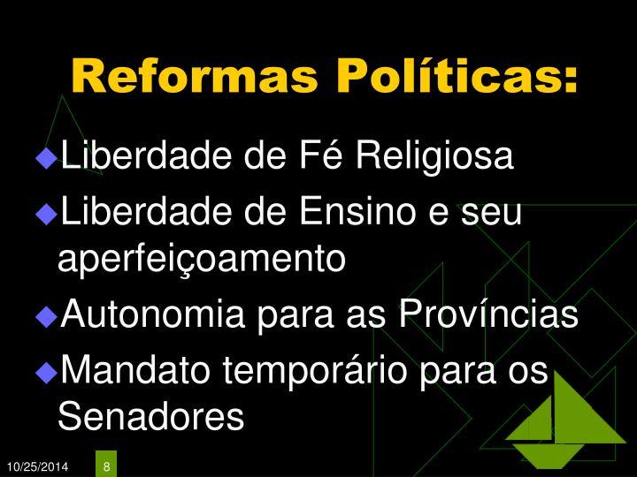 Reformas Políticas: