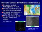 drivers for oci data data interoperability strategy