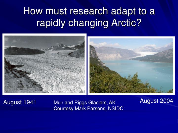 How must research adapt to a rapidly changing arctic