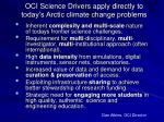oci science drivers apply directly to today s arctic climate change problems