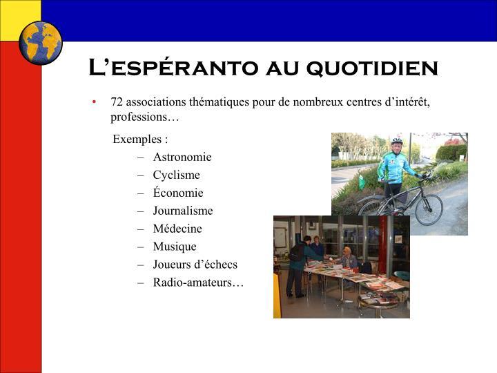 L'espéranto au quotidien
