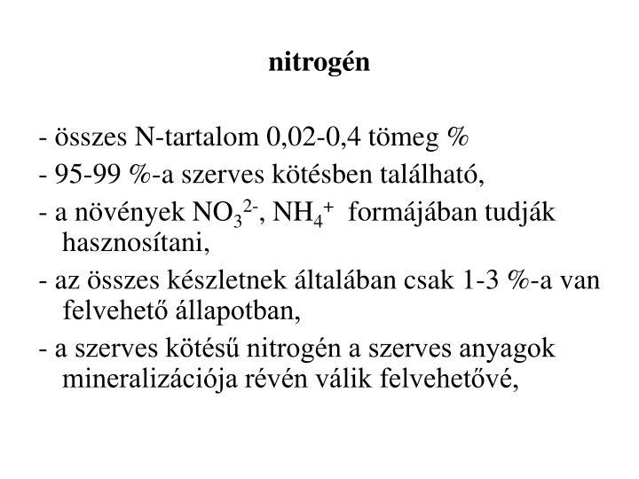 nitrogén
