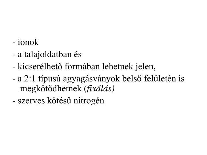 - ionok