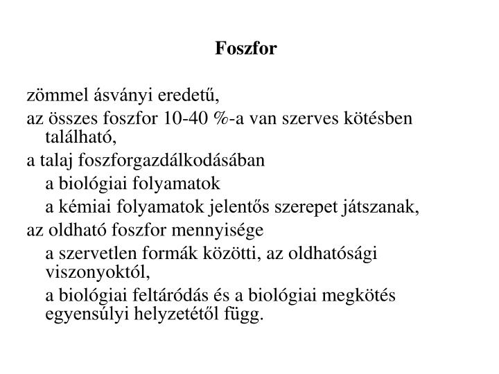 Foszfor