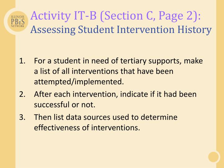 Activity IT-B (Section C, Page 2):