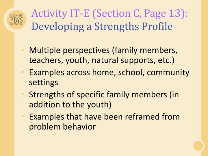 Activity IT-E (Section C, Page 13):