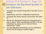 activity it f section c page 15 getting to the big need quality of life indicators