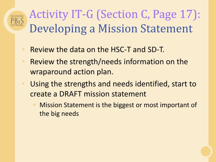 Activity IT-G (Section C, Page 17):