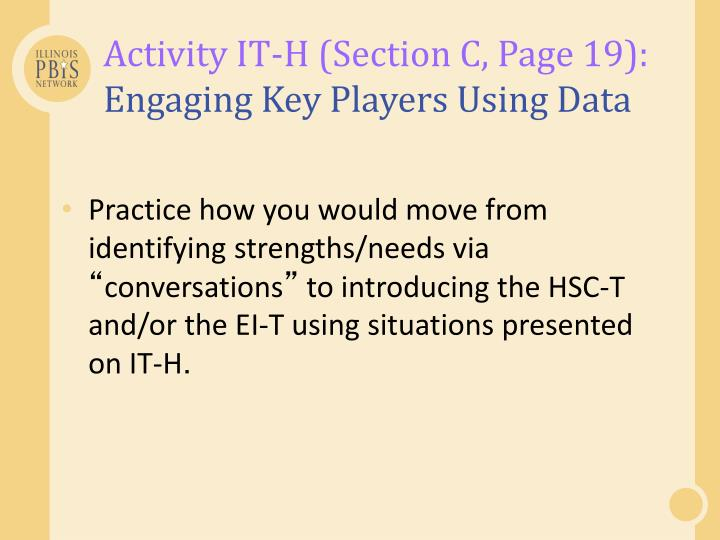 Activity IT-H (Section C, Page 19):