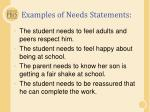 examples of needs statements