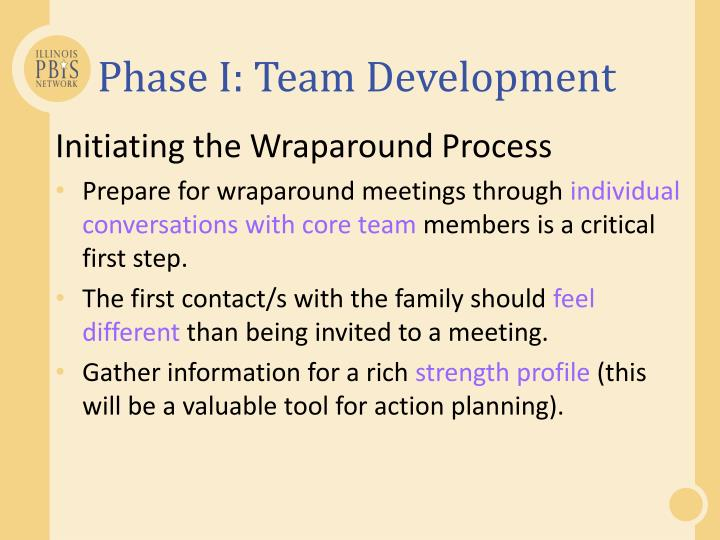 Phase I: Team Development
