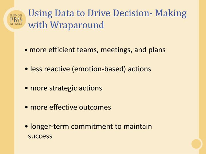 Using Data to Drive Decision- Making with Wraparound