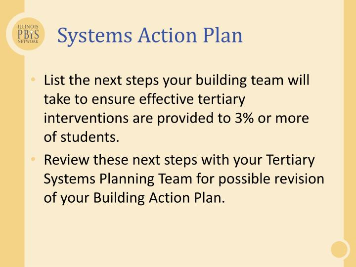 Systems Action Plan