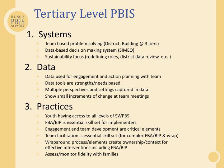 Tertiary Level PBIS