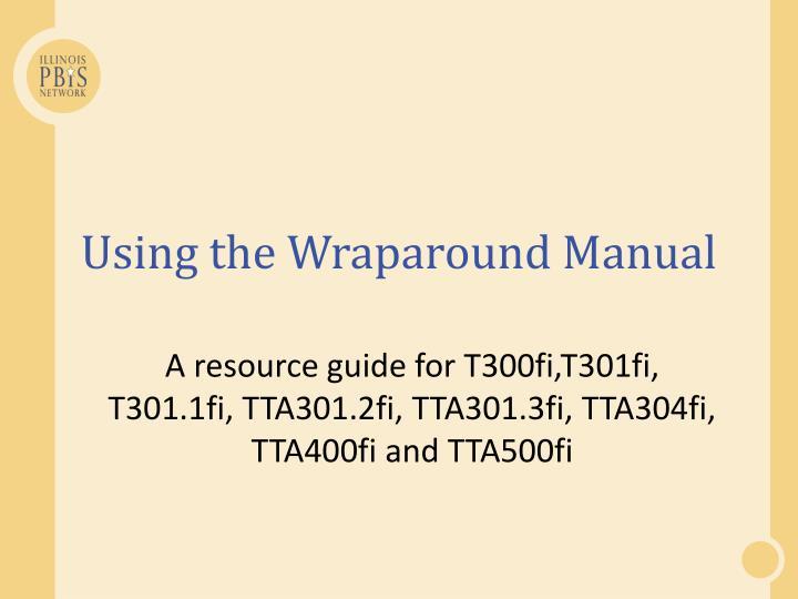 Using the Wraparound Manual