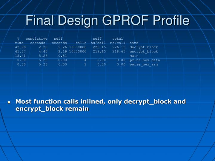 Final Design GPROF Profile
