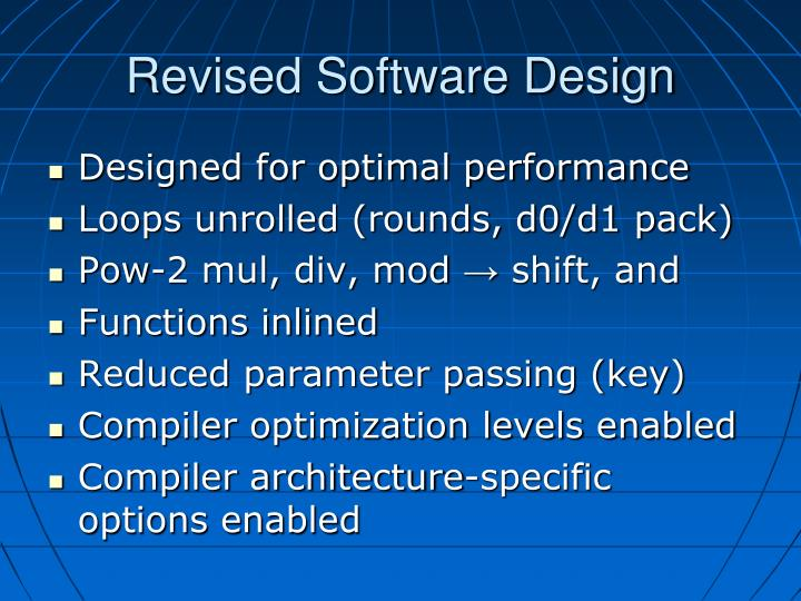 Revised Software Design