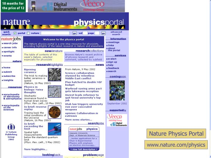 Nature Physics Portal