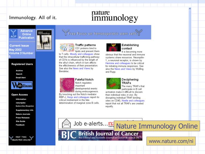 Nature Immunology Online