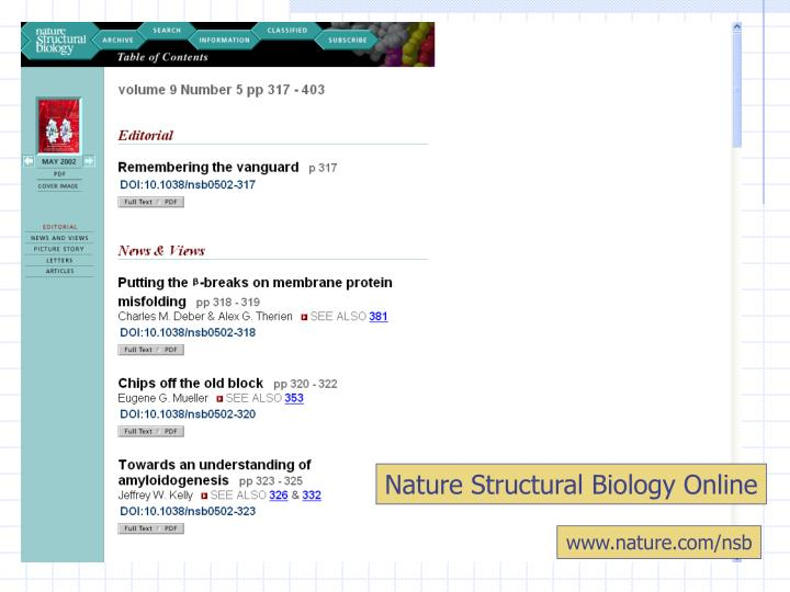 Nature Structural Biology Online