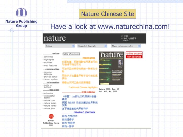Nature Chinese Site