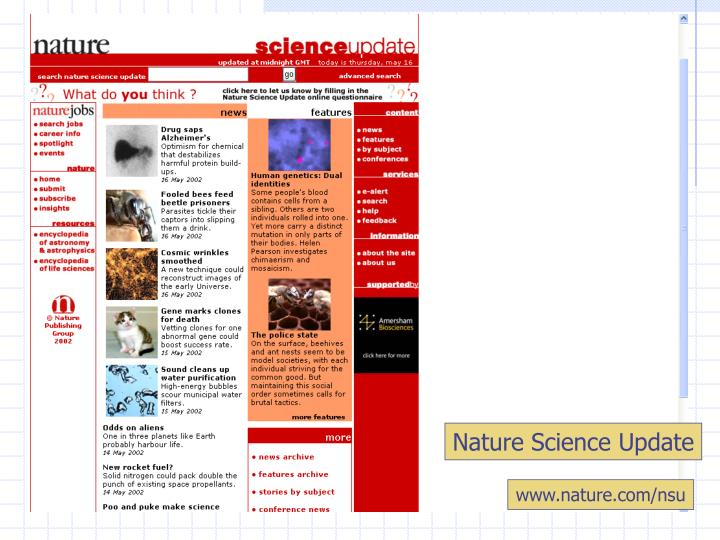 Nature Science Update