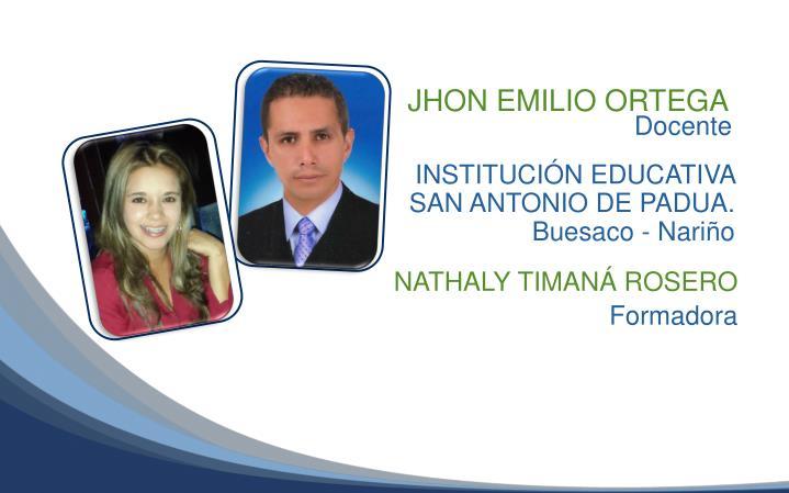 JHON EMILIO ORTEGA
