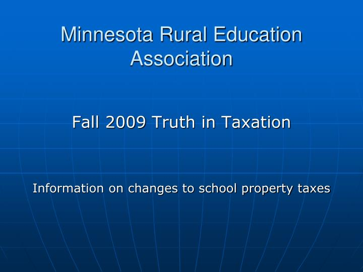 Minnesota rural education association