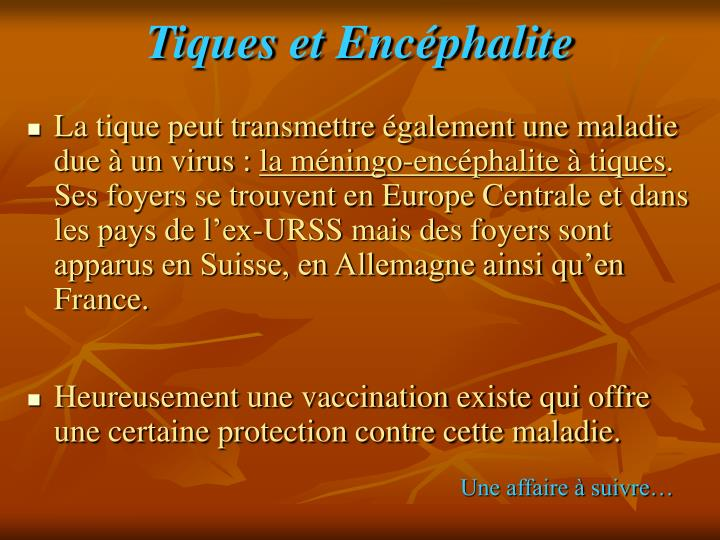 Tiques et Encéphalite
