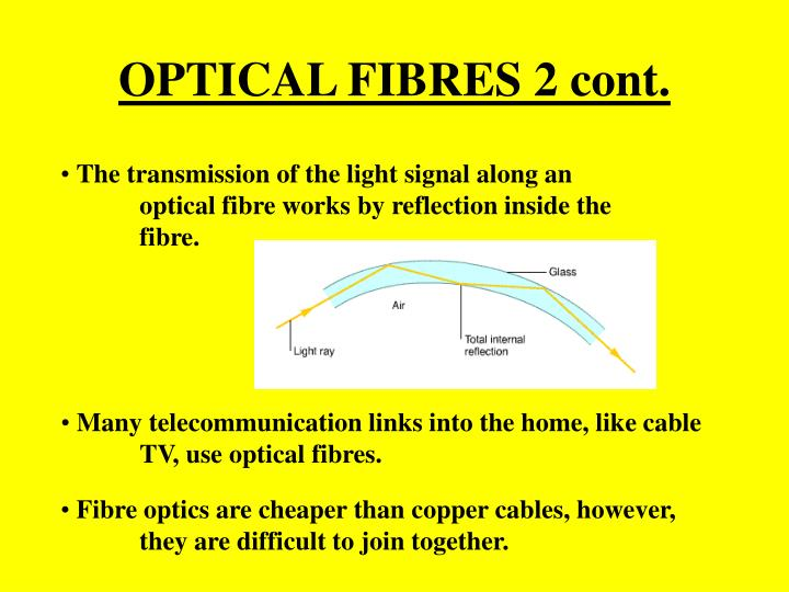 OPTICAL FIBRES 2 cont.