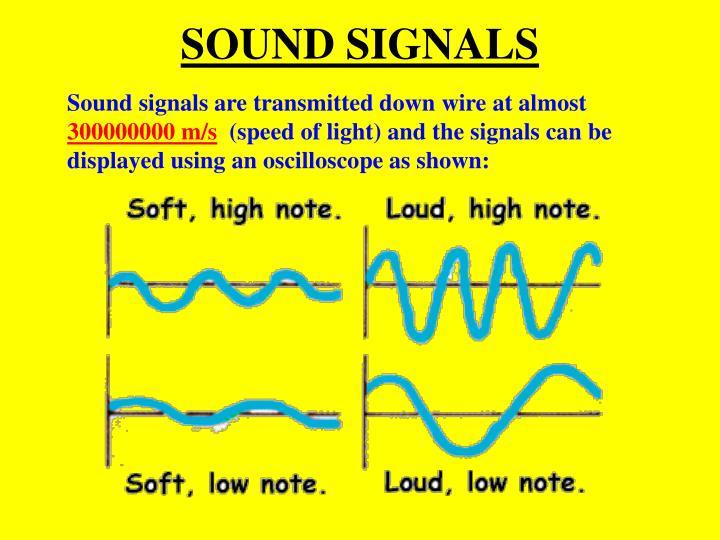 SOUND SIGNALS