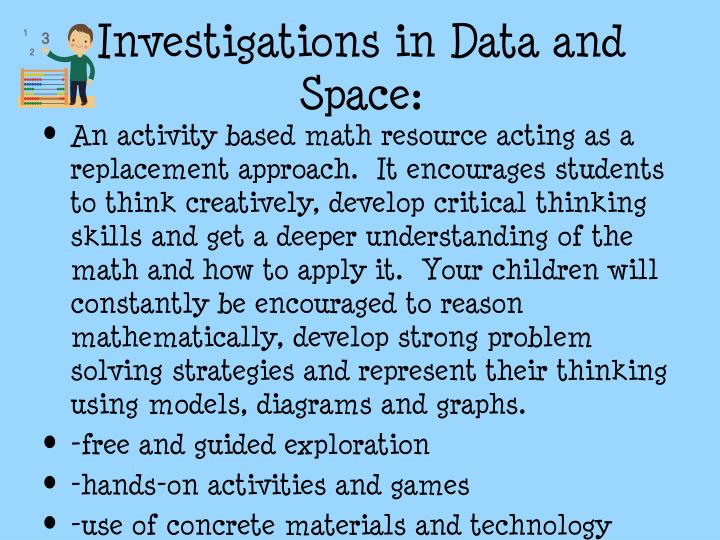 Investigations in Data and Space: