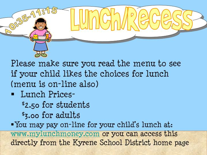 Lunch/Recess