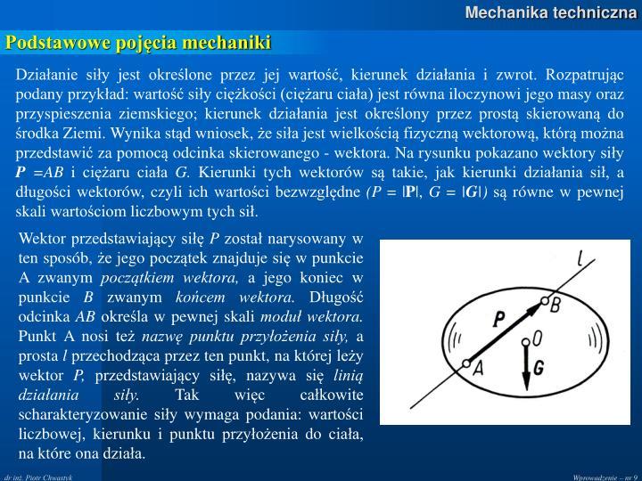 Podstawowe pojęcia mechaniki