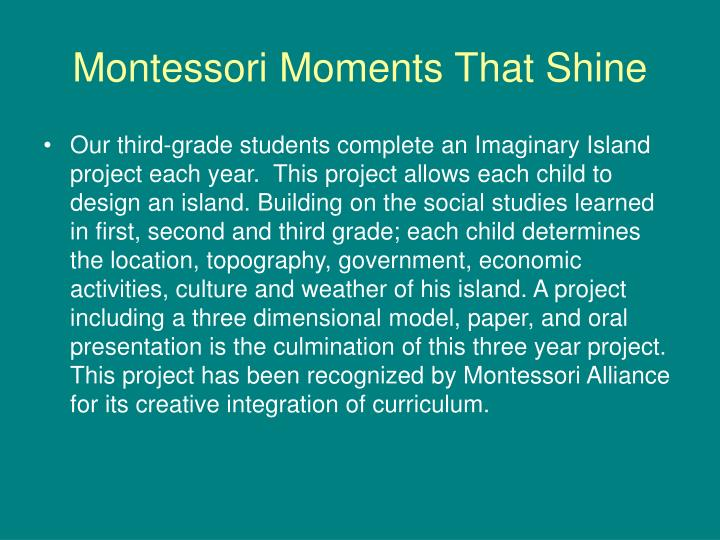 Montessori Moments That Shine