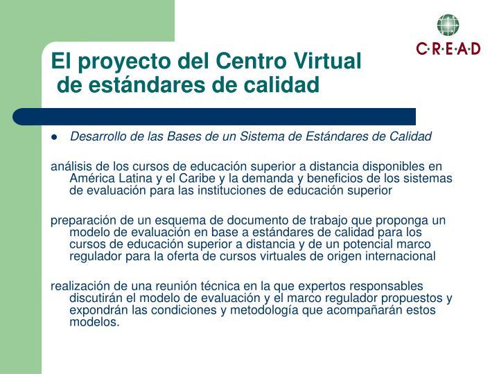 El proyecto del Centro Virtual