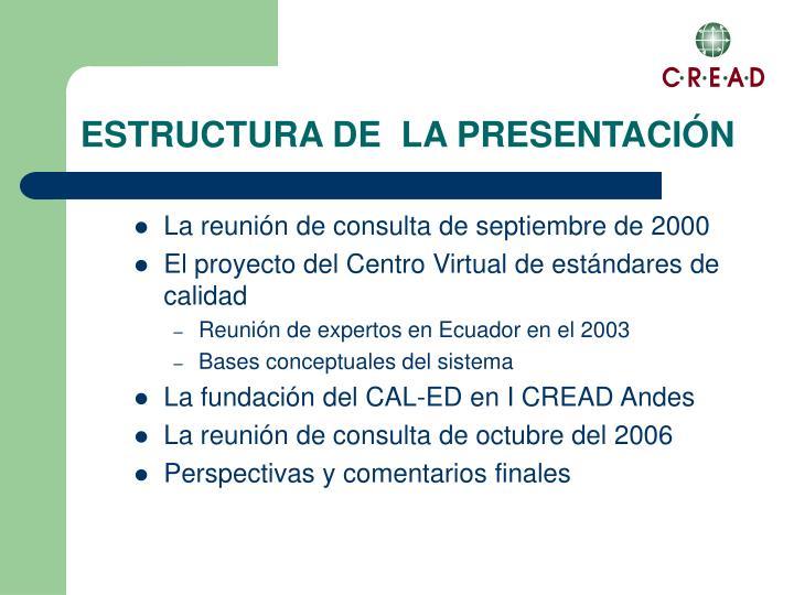 La reunión de consulta de septiembre de 2000