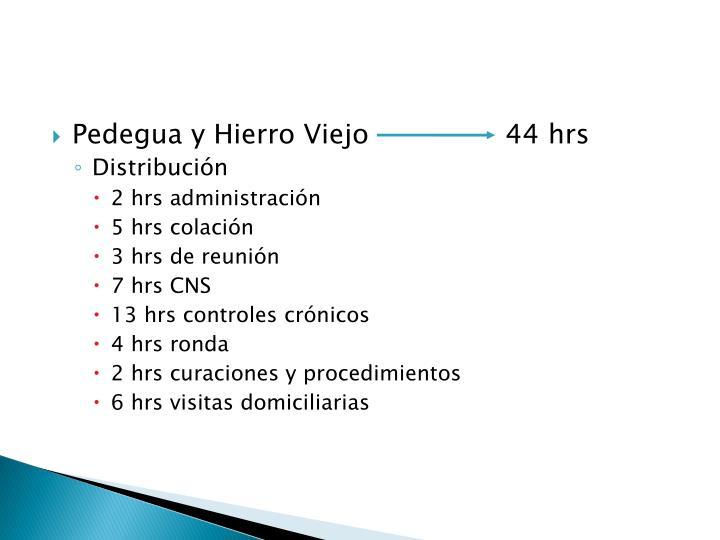 Pedegua y Hierro Viejo                44 hrs