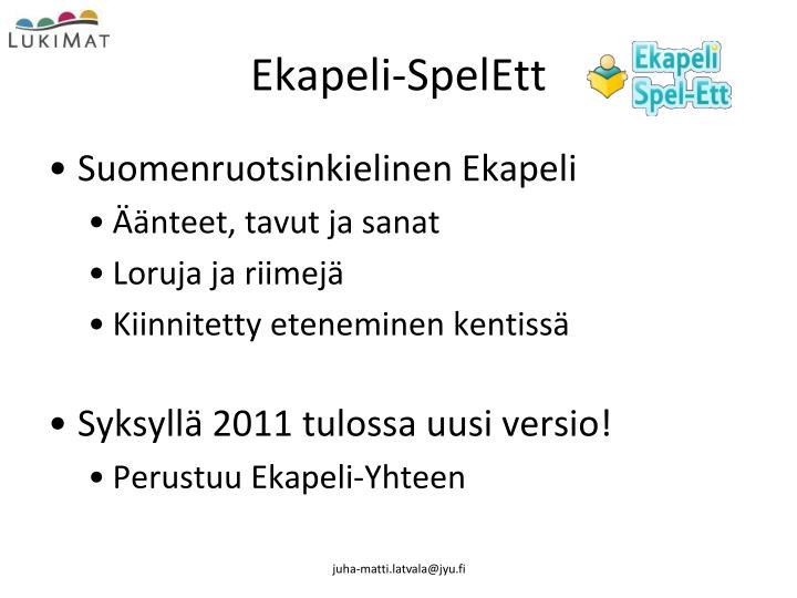 Ekapeli-SpelEtt