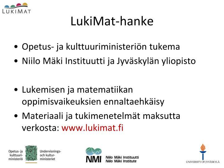 LukiMat-hanke